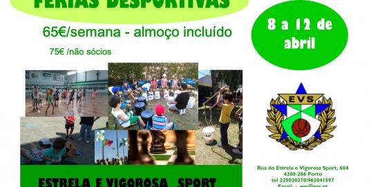 Cartaz férias desportivas 2019 pÁSCOA